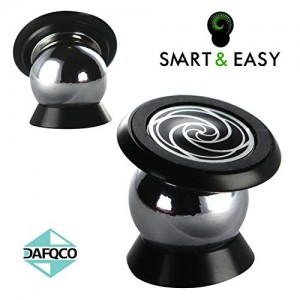 SMART & EASY® Magnetic Cell Phone Holder Cell Phone Car Mount Car Mount Phone Holder Installs on Any Flat Surface