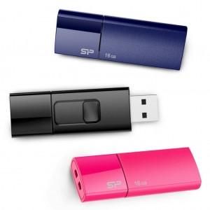 Silicon Power 16GB 3-Pack Ultima U05 USB 2.0 Flash Drive, BluePinkBlack (SP048GBUF2U05VCM)