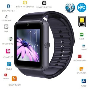 Smart Watch,[U.S. Warranty]JoyGeek All-in-1 Bluetooth Watch Wrist Watch Phone with SIM Card Slot and NFC for IOS Apple iPhone,Android Samsung HTC Sony LG Smartphones