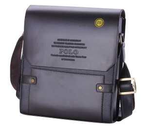 Videng Polo Men's Leather RFID Blocking Secure Briefcase Shoulder Messenger Bags, V1-brown