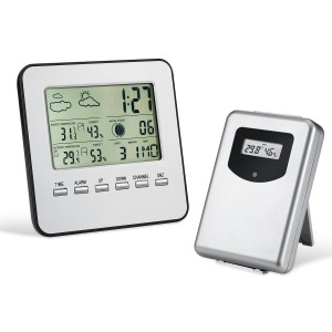 Wireless Weather Station, Amir® IndoorOutdoor Wireless Digital Home Weather Forecaster Station with Thermometer, Humidity, Weather Forecast, Clock, and More