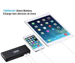 ZILU 16800mAh Portable Charger External Battery Pack Power Bank for Apple iPhone iPad Samsung Galaxy and Other Phones Tablets