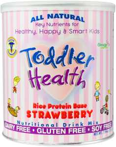 Toddler Health - Nutritional Drink Mix, Dairy, Gluten & Soy Free, Rice Strawberry 10 serving