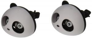 uxcell® 2 Pcs Black White Panda Shaped Car Air Freshener Perfume w Two Clips
