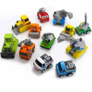 Mini Car & Truck Pullback Vehicle Models Pack of 12 Kid's Toy