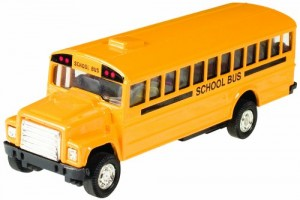 Toysmith Pull-Back School Bus (5-Inch)