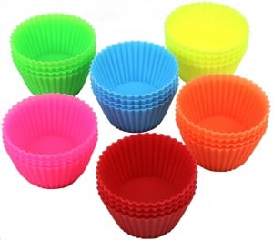 24-PACK DecoBros Silicone Baking Muffin Cup Cupcake Liners Molds Set