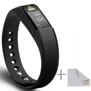 EFO-S BLACK K5 Wireless Activity and Sleep Monitor Pedometer Smart Fitness Tracker Wristband Watch Bracelet for Men Women Boys Girls