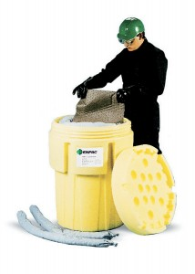 Enpac 1065-YE Poly-Overpack Salvage Drum, 65 Gallons Spill Capacity