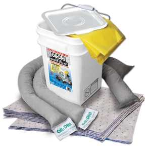 Oil-Dri L90435 Compact Universal 5-Gallon Bucket Spill Kit