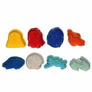 Sago Brothers Star Wars Lovers Cookie Cutters Plungers 8 Pcs