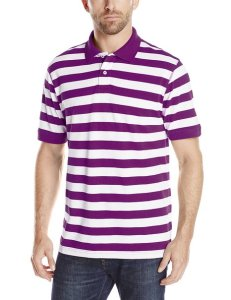 American Icon Men's Short-Sleeve Striped Polo