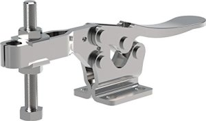 Clamp-Rite 14251CR-SS (DSC 225-USS) Stainless Steel Horizontal Hold-Down Clamp, High Open Bar, Flanged Base, 600 lb Holding Capacity