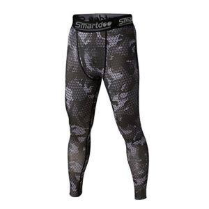 Compression Pants, Smartdoo Under Base Layer Sport Long Tight Pant Legging Men Stretch Ankle for Running Basketball Football