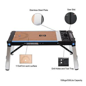 HICO UWIS03 3-in-1 Multi-Function Folding Worktable for Workbench Scaffold Platform,Creeper Carrier