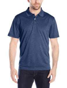 Haggar Men's Short-Sleeve Marled Polo Shirt, London Blue Marl, Medium , London Blue Marl, Medium