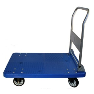 Mighty Lift FD300 Single Level Folding Platform Truck, 2 Swivels and 2 Rigids, Net Weight 36 lb, 660 lb Capacity, 24 x 36 Deck Size, 5 x 1.5 Caster Size