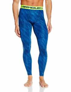 UA Men's HeatGear Armour Printed Compression Leggings
