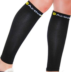 ActiveGear Pro Calf Compression Sleeves - Leg Support Socks for Shin Splints & Calf Pain Relief for Athletes, Runners, Cycling and Travel (1 Pair)