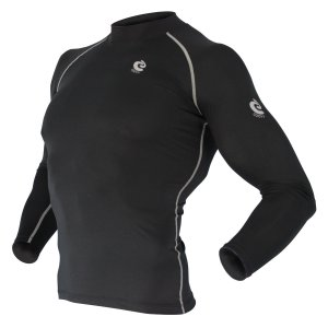 COOVY Sports Surf Rashguard Swim Shirt Skin Base Layer Heat Long Sleeve UPF 50+