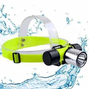 Diving Headlamp MECO 800lumen 3 Modes Super Bright Underwater Headlamp Submarine Head Light Waterproof LED Lamp Diving Head Flashlight for Diving (Battery not Included)