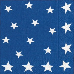Entertaining with Caspari Stars and Stripes Paper Cocktail Napkins