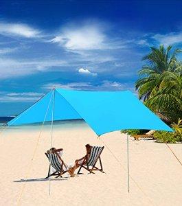 Forfar Tent Tarp Rain Tarp Shelter 120115 inch Waterproof Sunshade Fly Tent Tarp