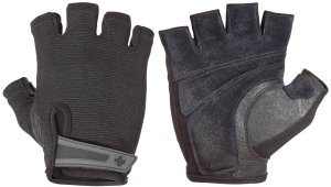 Harbinger Men's Power Weightlifting Gloves with StretchBack Mesh and Leather Palm (Pair)