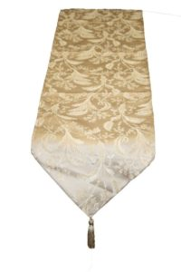 Luxury Damask Design 13 X 90 Table Runner Color Gold