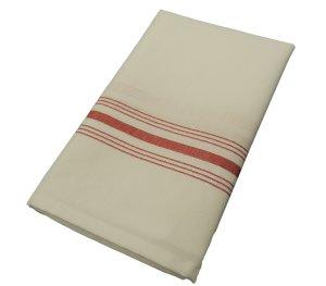 Milliken Signature Red Stripe Bistro Napkins 1 Dozen