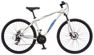Mongoose Men's Banish 2.0 Hybrid Bike, White, 18-InchMedium