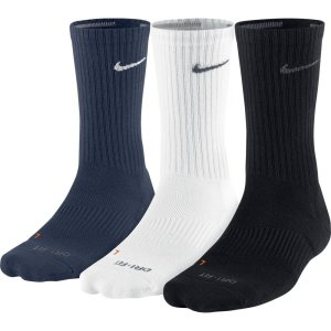 Nike Men's Dri-Fit Cotton Cushioned Socks 3 Pair