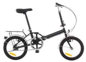 Omega 16 Steel Folding Bicycle - Rack & Fenders