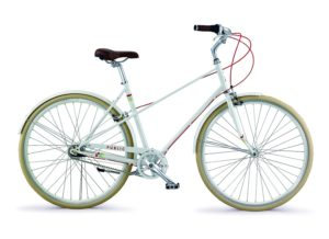 PUBLIC Bikes M7i Mixte Style Step-Over City Bike, 18.5Small, Cream
