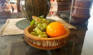 RoRo 8 in Soup or Guacamole Dip Bowl With Bark Edges made from Sustainable Orchard Wood