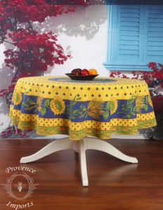 Tournesol Yellow 70 Round French Provencal Polyester Tablecloth