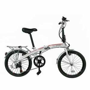Xspec 20 7 Speed City Folding Compact Bike Bicycle Urban Commuter Shimano White