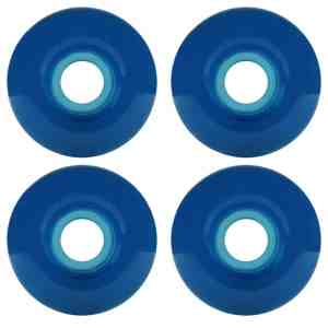 52mm BLUE Gel Skateboard Wheels Dura Rollers