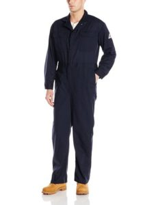Bulwark Flame Resistant 9 oz Twill Cotton Deluxe Coverall with Concealed Snap Cuff
