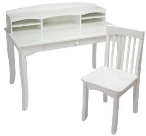 KidKraft Large Avalon Desk - White