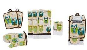 Mainstays 7-Piece Owl Kitchen Set
