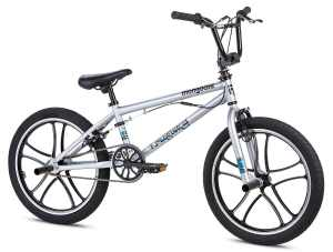 Mongoose Boy's Legion Mag Bicycle, 20-Inch, Silver