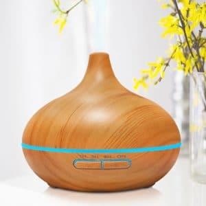 New 2016 Modern Zen House 300 ml Essential Oil Diffuser, Ultrasonic Humidifier Aromatherapy, Modern Zen House, Wood Grain, Perfect Gift