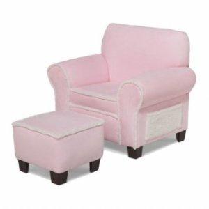 Newco Kids Harmony Kids Micro Club Chair and Ottoman, Pink