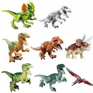 OliaDesign ABS 3 Jurassic World Minifigures Jurassic Park Dinosaur Building Blocks (8 Piece)