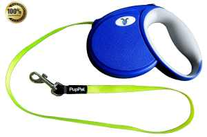 PupPal Pro Retractable Dog Leash - Ribbon Style Leash for Smoother Retraction and Does NOT Burn Skin - Brand New Handle Design