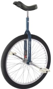 Schwinn 24 Unicycle w 350mm Seat Post - Retro Blue