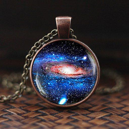Pendentif Galaxie, Système Solaire Ou Voie Lactée Bijoux 1