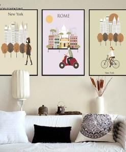 Affiches Vintage De Villes Pour Décoration 2