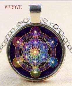 Pendentif Fleur de Vie - Chakra - Hexagramme Magique